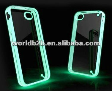 Skin Luminescent dark shining Fluorescent Sticker Film for iPhone 4 4G