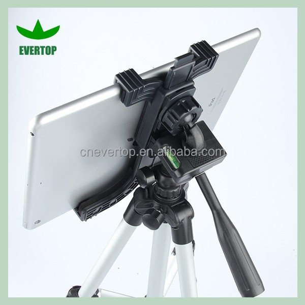 Tourism Universal tablet tripod camera mount for ipad/adjustable tripod tablet camera mount for various tablet pc TS-LS14B