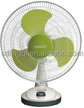 16'' AC DC rechargeable table fan with light LED
