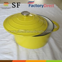enameal pot cast iron cooking pot