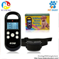 3 mode 4LV silicon button Blue back light LCD 3 dogs control dog slave shock collar