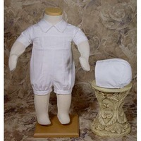 2015 fashion design infant toddlers clothing, baby boys baptism clothing set, kids christening dress