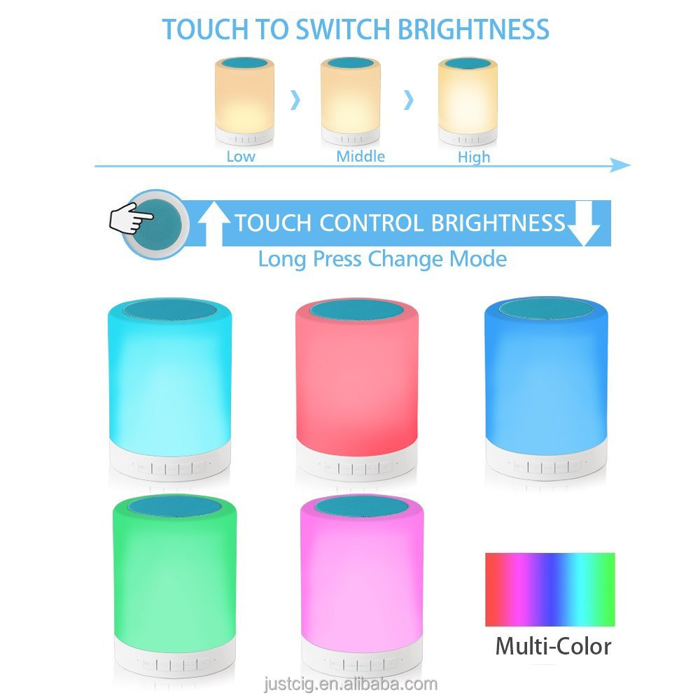 Colorful LED Bluetooth Speaker Rechargeable Wireless Portable Speaker