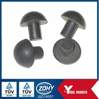 Black Rubber Hole Plug for pipe sealing dust proof,silicone rubber plug for water and heat proof