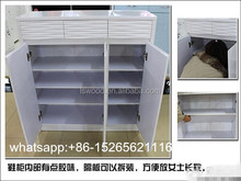 White Shoe cabinet door Shoe Rack, with Particle Board /MDF material