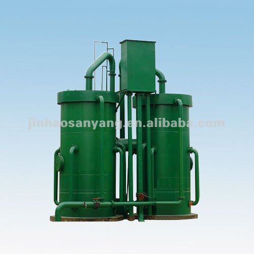 Gravity valveless water filter system for wastewater treatment plant