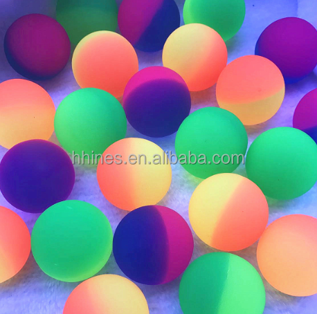 Bright Color Connection 27mm 32mm 45mm 49mm Rubber Bouncy Return Balls Best Selling Vending Machine Rubber Bouncy Ball