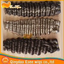 100 human hair extensions yaki deep wave weaving of indian remy hair weft