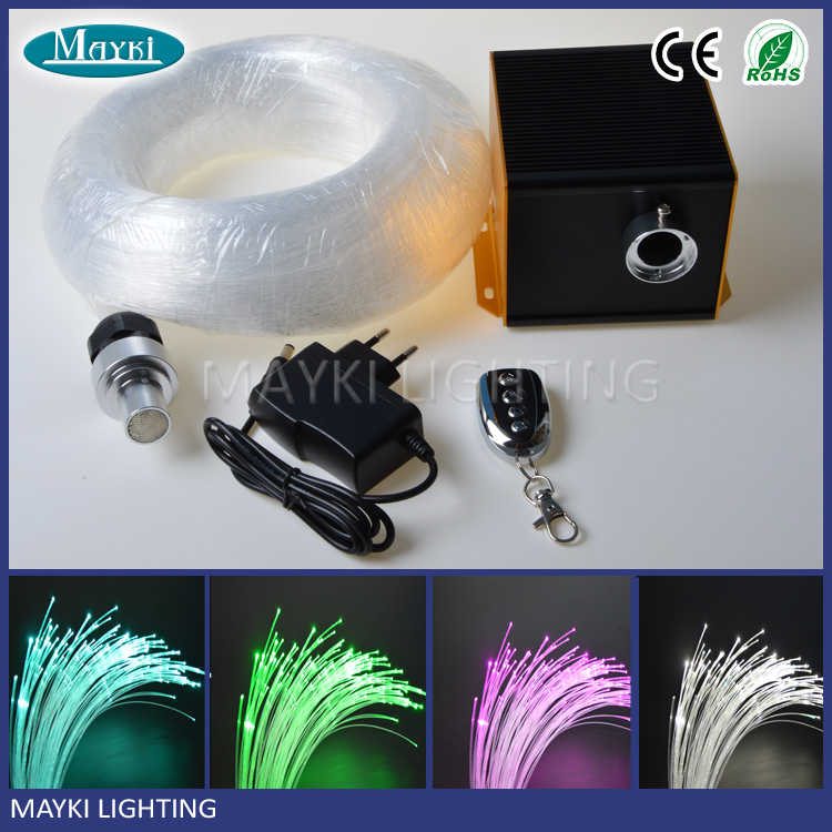 2016 Fiber optic diy kit for star ceiling light decoration with endglow optical fiber light and led illuminator