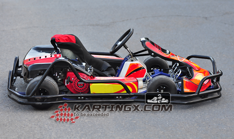 Manual or electric starter 4 stroke racing pedal go kart 125cc for sale