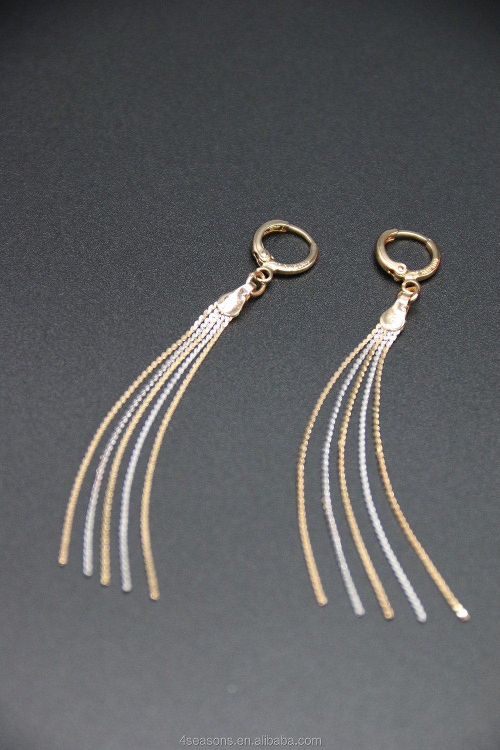 women's elegant tassel shape earrings jewellery, zircon jewellery