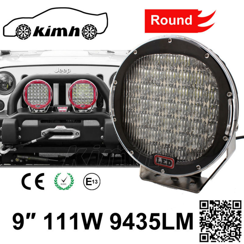 Flash Led Light Boat SUV Offroad 111W 9435LM waterproof led works lamp