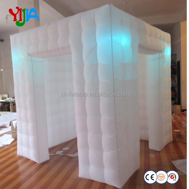 Inflatable factory supplier 8x8 fts inflatable photo booth enclosure with LED lights
