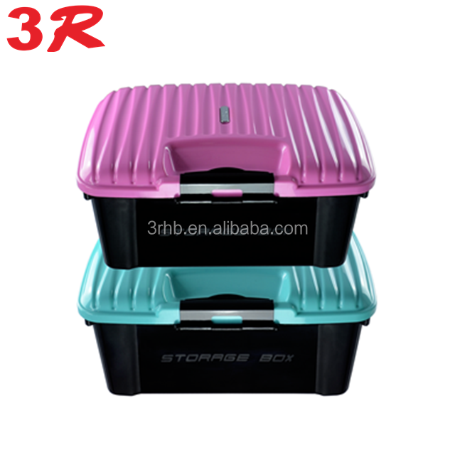 lockable plastic moving boxes storage containers