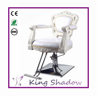 2015 new antique style salon chairs / old style barber chair / fiber glass styling chair