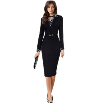 Cheap attracive modern cosy spot simple formal bodycon dress business