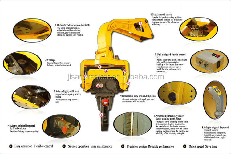 hydraulic vibrator hammer for construction foundation