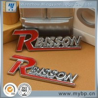 High quality light gold customized custom car emblem