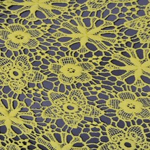 C9-1 female yellow cotton Pierced lace chemical fabric