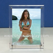 Table top transparent acrylic open hot sexy girl photo or photo picture frame