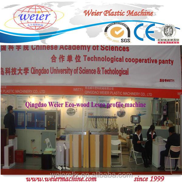 Environmental friendly Greener wood ecological wpc pvc profile extrusion line by single screw extruder