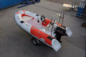 3.9m fiberglass hull sea boat for summer leisure sport(RIB390C) with outboard engine
