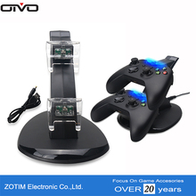 Newest Hot Sale Vertical Charger Stand Dual Charging Station For Xbox One Controller With Blue Indicator Light