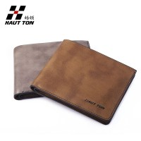 Top grade vintage real leather card holders men leather wallet purse