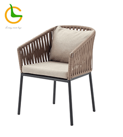 2018 new design outdoor PU 304 stainless steel chair