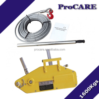 1.6tons vehicle recovery cable puller hand winch