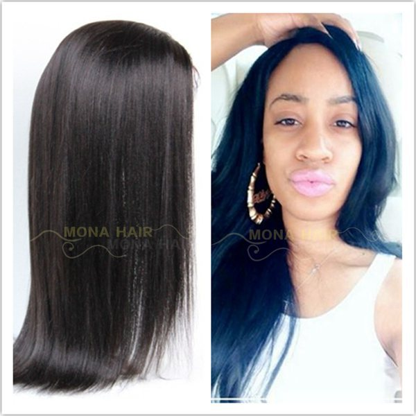 Factory cheap price brazilian straight natural hair wigs