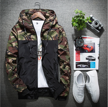 L10416A 2018 new spring and autumn fashion thin casual fashion camouflage jacket men's clothes