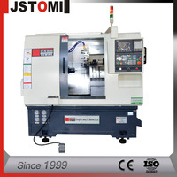 Machine Manufacturers 2-Axis Turret And Tailstock CNC Lathe Machine Tool
