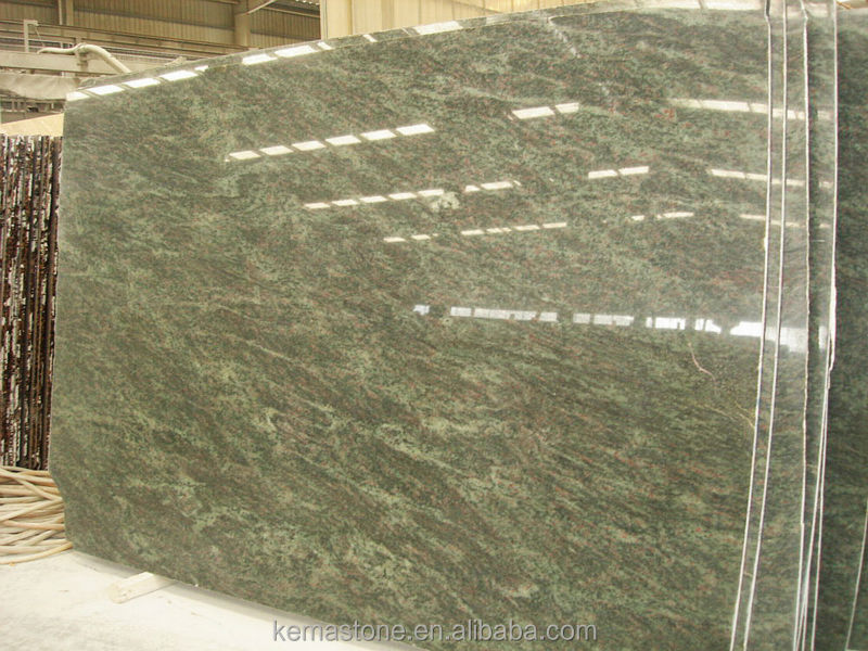 Polished India Tropical Green Granite slab