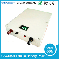 12V 40ah large capacity lithium battery, lithium battery pack
