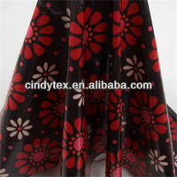 0.35mm flower pattern drapery soft 100% polyester printed pu leather