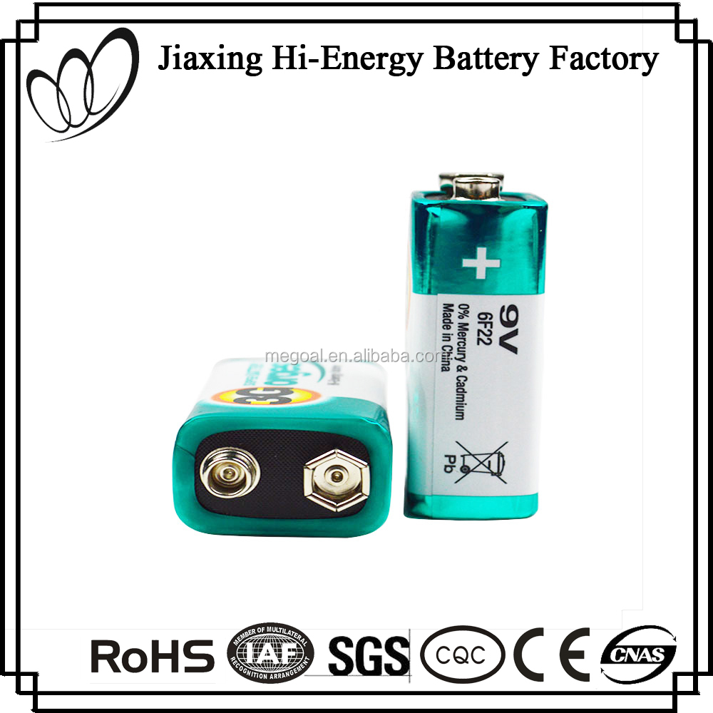 Perfect Design Aluminum Foil Jacket 9V 6F22 Dry Cell Battery