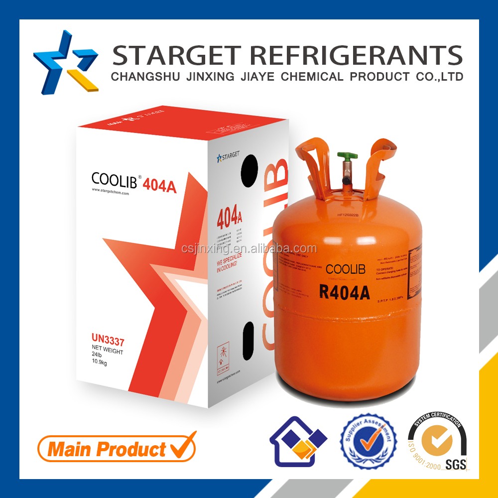 R404a gas refrigerant, used in air condition high quality types for sale