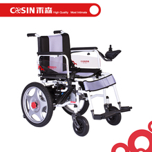 handicapped electric motor powered wheelchairs with soft seat cushion