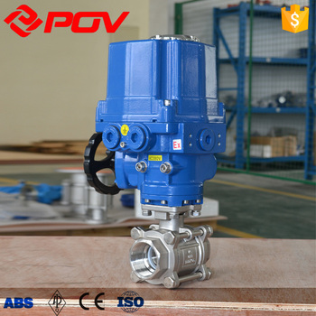 New design SS316 t-type electric ball valve 24v CF3M