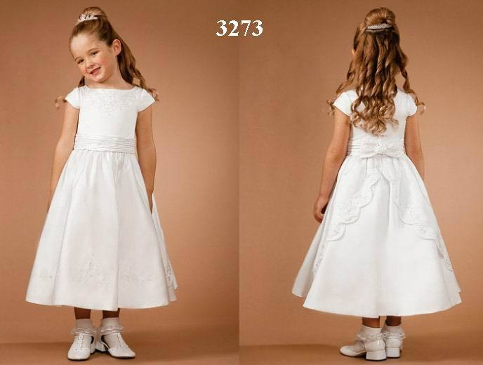 New Designers Lovely Popular white Flower Girl Dresses 2015