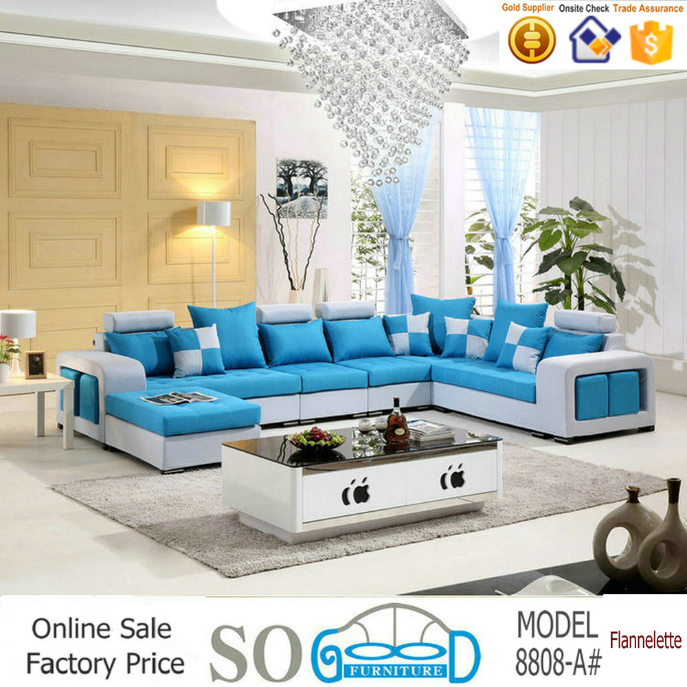<strong>Modern</strong> Living Room U Shape Fabric Sofa Furniture