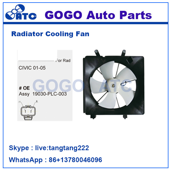 Radiator A/C Cooling Fan for CIVIC 01 - 15 OEM 19030-PLC-003