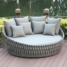 Patio furniture aluminum powder coated frame round bed