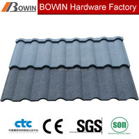 corrugated galvanised roofing sheet /sand coated metal roofing shingle /roof tile price