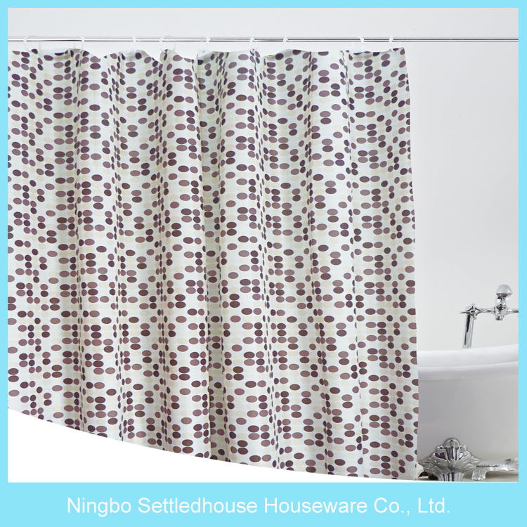Stocked brown 84 inch long shower curtain