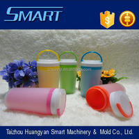New design injection frosted small double layer cup