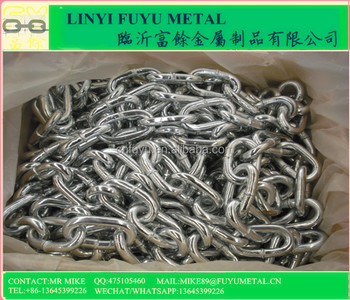 GALVANIZED WELDED MEDIUM LINK CHAIN HOT SELL 2016