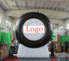 event party advertising giant inflatable tire with digital printing logo
