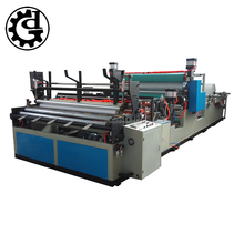 Automatic glue lamination rewinding kitchen towel paper roll machine